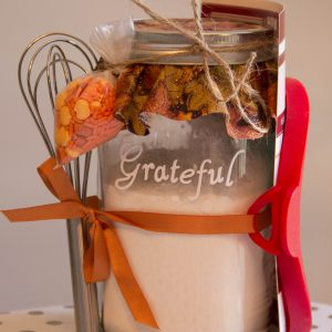 Thanksgiving Pancake mold mason jar gift.