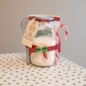 Candy Cane Theme Pancake Mix and Good Morning Mold Gift Jar